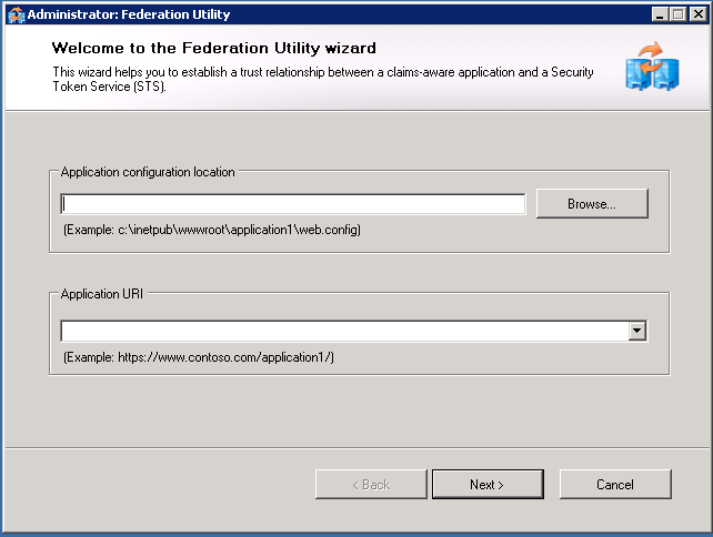 Federation utility wizard screenshot